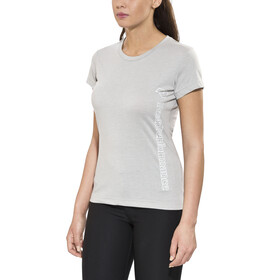 Peak Performance Track Tee Shirt Women Med Grey Mel